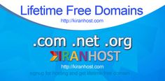 Free Domain for lifetime http://kiranhost.com
