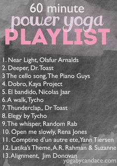 60 min power playlist. Need to come back to this for ideas Love this playlist :) Yoga Nidra, Yoga Sequences, Yoga Meditation, Yoga Flow, Zen Yoga, Quick Weight Loss Tips, How To Lose Weight Fast, Reduce Weight, Losing Weight