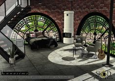 Sims 4 CC's - The Best: 3t4 Conversion of Lunasims Big Ben Windows by daer...