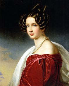Portrait of Archduchess Sophie by Joseph Stieler Wife of Franz Karl, Archduke of Austria. Mother of Franz Joseph I, Emperor of Austria and Apostolic King of Hungary. On 4 November she married Franz Karl, Archduke of Austria. They had six children. Female Portrait, Portrait Art, Portrait Paintings, Joseph, Franz Josef I, Kaiser Franz, Romantic Period, Elisabeth, Painted Ladies