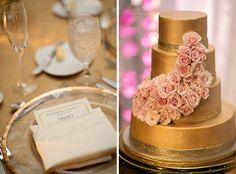 Hilton Orlando Pink and Gold Wedding: Liz and Jamol |