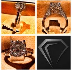 Classic meets vintage, would love in a 1.8 ct WHITE GOLD setting!