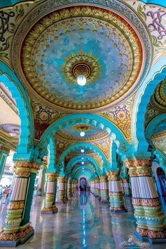 Challenge yourself with this Mysore Palace, India jigsaw puzzle for free.Public Durbar Hall in Mysore Maharajah's Palace, Karnataka - India Indian Temple Architecture, India Architecture, Ancient Architecture, Beautiful Architecture, Beautiful Buildings, Beautiful Places, Architecture Sketches, Architecture Wallpaper, Gothic Architecture