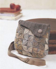 Set of shoulder tote Bag Handbag  purse Cross body sewing quliting quilt patchwork applique pdf pattern patterns ebook. $5.00, via Etsy.