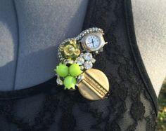 Victorian Steampunk OOAK wearable art brooch