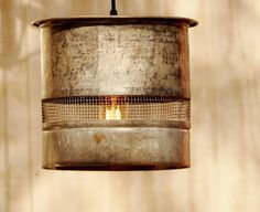Vintage Galvanized  Minnow Bucket Hanging Lamps  by TinkerLighting, $145.00