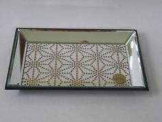 bohemian vanity tray | Details about NWT Nicole Miller Bohemian Copper Glitter Deco Mirror ...