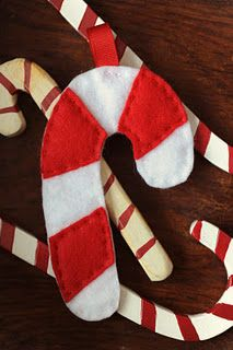 DIY Felt candy cane with free pattern