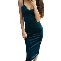 Sexy Bodycon Velvet Dress //Price: $17.98 & FREE Shipping //     #trends