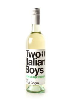 Two Italian Boys Pinot Grigio Best Italian Wines, Vodka Bottle, Favorite Recipes, Drinks, Boys, Label, Track, Products, Baby Boys