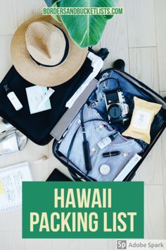 Hawaii Packing List (For All the Items You Won't Remember) | Borders & Bucket Lists Hawaii Packing List, Hawaii packing, Hawaii packing list Oahu, Hawaii packing list Maui, Hawaii packing list Big Island, what to pack for Hawaii #hawaii #packinglist #packing