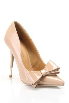 Nude bow pumps | Shoes Shoes Shoes! | Pinterest | Shoes, Footwear ...