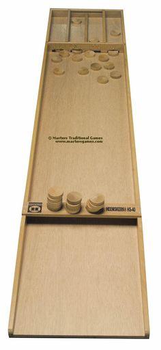 A range of Sjoelbak (Sjoelen, Dutch shuffleboard) games. Hand made Sjoelbak boards and other quality Dutch Shuffleboard games.
