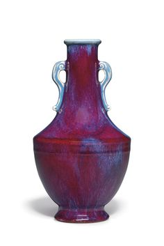 AN IMPERIAL FLAMBÉ-GLAZED VASE, HUQIANLONG SIX-CHARACTER INCISED SEAL MARK AND OF THE PERIOD (1736-1795)EstimateUSD 30,000 - USD 50,000