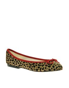 French Sole India Leopard Pony Ballet Shoes