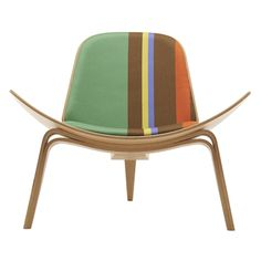 Paul Smith upholsters classic furniture designs by Hans J. Wegner in his signature stripes. Funky yet clean lined! Danish Furniture, Classic Furniture, Cool Furniture, Furniture Ideas, Milan Furniture, Art Et Design, Deco Design, Traditional Chairs, Upholstered Chairs