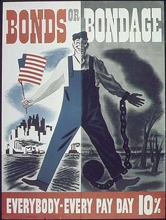World War 2 Poster - Bonds or Bondage