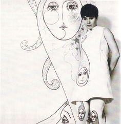 1968 - Geraldine Chaplin in Ted Lapidus