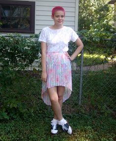 High-Low Skirt DIY by Rookie