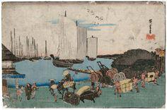 東都名所 高輪の夕景 Evening View of Takanawa,Museum of Fine Arts, Boston