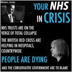 Blame the Tories - the #NHSCrisis is THEIR fault