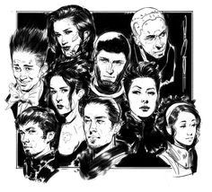 Faces Warm-up, John Grello on ArtStation at https://www.artstation.com/artwork/faces-warm-up