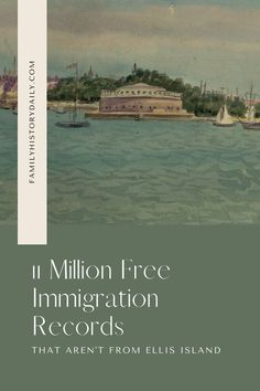 What if your ancestors were among the millions and millions of people who came to New York's shores in the decades before Ellis Island first opened its doors? Where did these pre-Ellis immigrants land? Were their names and details recorded as well? Free Genealogy Sites, Ellis Island, The Millions, Names
