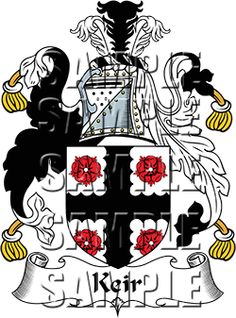 Keir Family Crest apparel, Keir Coat of Arms gifts