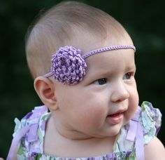 PATTERN crochet  Unique Flower and Headband by EtsyBitsyToes, $2.50