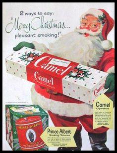Camel Cigarettes and Prince Albert Tobacco.
