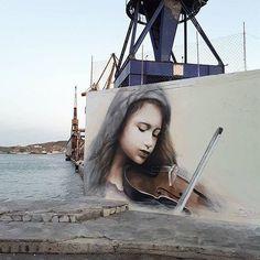 @dem_________ in Ermoupoli, Syros, Greece for @strayartfestival