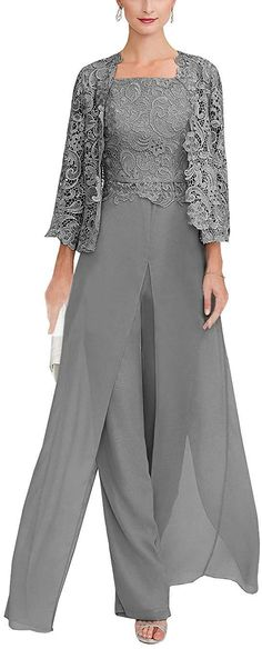 Mother Of The Bride Trouser Suits, Mother Of The Bride Dresses Long, Mother Of Bride Outfits, Mothers Dresses, Lace Jacket Wedding, Wedding Pantsuit, Wedding Trouser Suits, Pantsuits For Women, Fashion Clothes