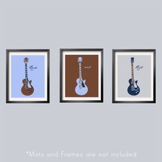 Guitar Prints in baby blue, brown, navy  and silver 3 pc set 5x7 Looks great with Carter's Monkey Rockstar Bedding  by Yassisplace.etsy.com by YassisPlace on Etsy https://www.etsy.com/listing/95446151/guitar-prints-in-baby-blue-brown-navy