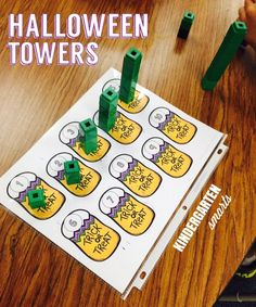 Halloween Math Center that's great for 1:1 counting!