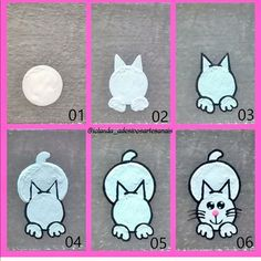 How to draw a cat! Gel Designs, Diy Nail Designs, Nail Drawing, Animal Nail Art, Nails For Kids, Face Painting Designs, Hand Art, Rhinestone Nails, Nail Tutorials