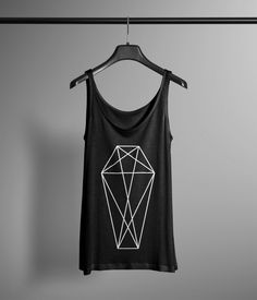 Geometric Coffin Tank Top - Occult Tank - Occult Print Graphic Tank - Graphic Tee - Graphic Tank Top - Occult Shirt by LafayetteFactory on Etsy https://www.etsy.com/listing/217467765/geometric-coffin-tank-top-occult-tank