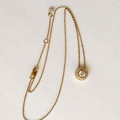 Vintage Gold Vermeil CZ Necklace - Mercari: Anyone can buy & sell