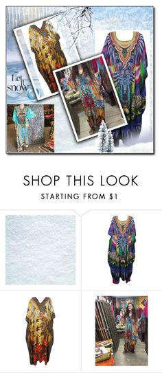 """""""Georgette Sexy Sheer Caftan Dress"""" by era-chandok ❤ liked on Polyvore featuring searchProductResult"""