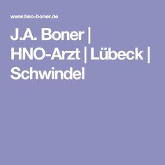J.A. Boner   HNO-Arzt   Lübeck   Schwindel