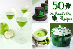 Over 50 St. Patrick's recipes including sweet treats, naturally green foods, and authentic Irish dishes. EatingRichly.com