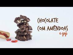 Sugestão doce para a pascoa, bombons de chocolate com amêndoas e goji Receita completa do chocolate com amêndoas: http://www.madebychoicesblog.com/choc... In...