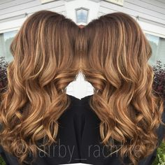 Warm honey caramel blonde hair. Custom color. hair by Rachel Fife @ SF Salon