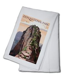 Zion National Park, Utah - Angels Landing & Condors - Lantern Press Artwork