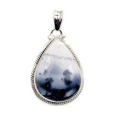 'Winter Wonderland' Sterling Silver Dendritic Opal Pendant  Price : $43.95 http://www.silverplazajewelry.com/Wonderland-Sterling-Silver-Dendritic-Pendant/dp/B00QITPJOE