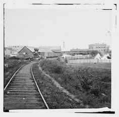 [Culpeper Court House, Va. Freight train on Orange and Alexandria Railroad]