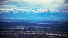 The Southern Alps as seen from Christchurch's Port Hills.