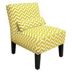 Zigzag Accent Chair in Yellow - Skyline on Wayfair