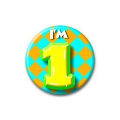 Speldje I am 1  Verjaardags button I am 1. Button in vrolijke kleuren met de opdruk: I am 1.  EUR 1.99  Meer informatie  #sinterklaas #zwartepiet