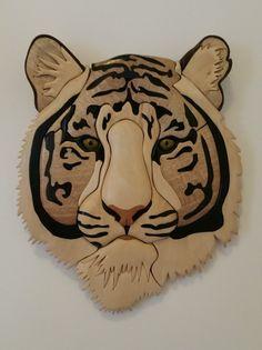 White tiger intarsia
