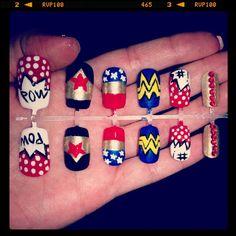 Wonder woman nail set